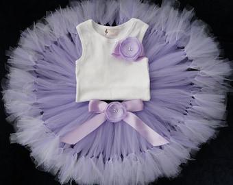 Birthday Tutu | 1st Birthday Tutu Dress | Baby Birthday Tutu | Cake Smash Tutu | Tutu Skirt | Lavender Birthday Tutu | 1st Birthday Tutu