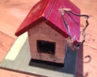Antique Folk Art Miniature Wooden Railroad House