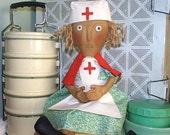 Primitive Doll Pattern E Pattern digital pdf Nurse INSTANT DIGITAL DOWNLOAD