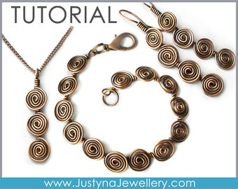 Wire Jewelry Tutorial, Wire Wrapping Tutorial, Long Earrings Tutorial, Pendant Tutorial, Bracelet Tutorial, Earwires, Spiral Jewelry