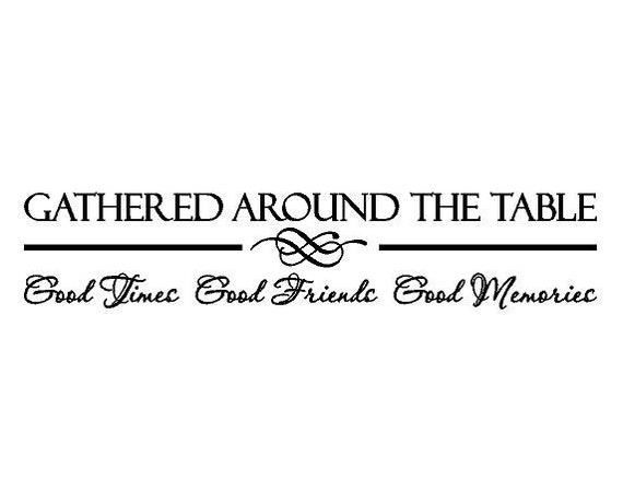 Wall Decal Kitchen Dining Room Table Memories Vinyl Sticker