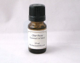 Clear Focus And Concentration essential Oil Blend  10 ml