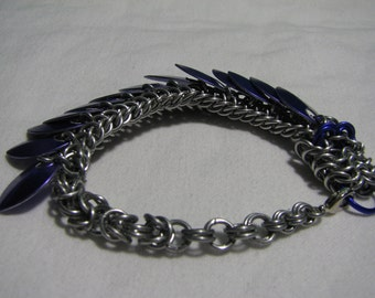 Purple Chainmaille Dragon Bracelet