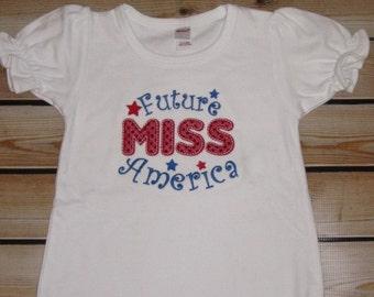 Future Miss America Romper 4th of July