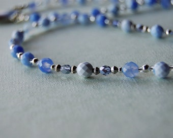 Blue Fire Agate Rosary