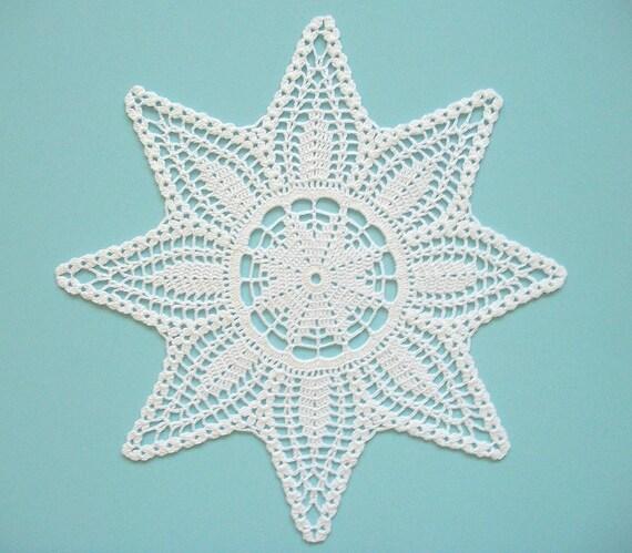Stern-Deckchen häkeln weißer Baumwolle Lace Heirloom Qualität