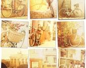 Bike photography, bicycle photos, pastel, peach, orange, amber, spring decor idea, travel art, 4x4