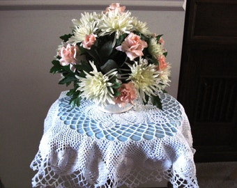 Crochet Pineapple Pattern Table Topper