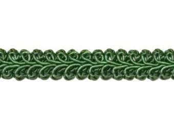 "E1901 Hunter Green Gimp Sewing Upholstery Trim 1/2"" (E1901-HGR)"
