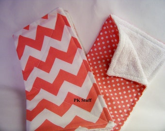 The Do Everything Cloth in Chevron in Hot Pink - Dish Cloth - Burp Cloth - Wash Cloth - Dust Cloth - Cleaning Cloth - Ready To Ship