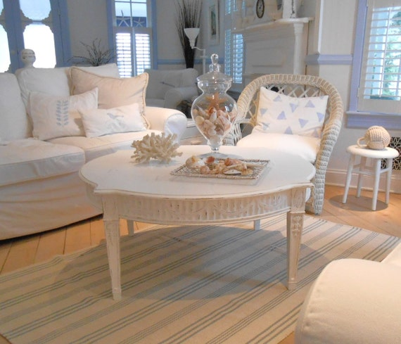 Shabby Chic Corner Coffee Table: Coffee Table Shabby Chic Furniture Beach Cottage