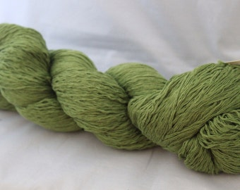 30% off STORE CLOSING SALE Reclaimed Green Cotton Yarn, Lace Weight Yarn - 720 Yards