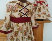 Girl and Doll Coordinating 1700's costume dress size 5/6 sale