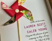 Boxed Wedding Invitation Custom Pinwheel by Rule42 Copy