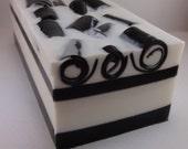 Handmade Black Linen Soap Loaf