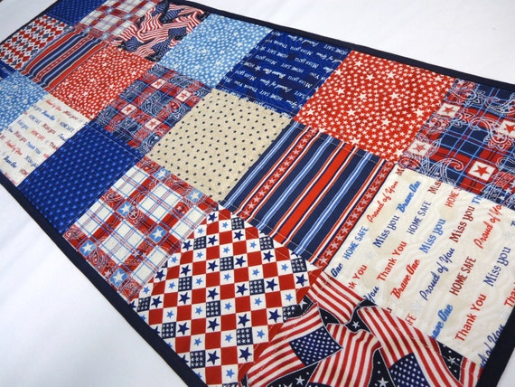 4th of July Table Runner Red White and Blue Table Runner
