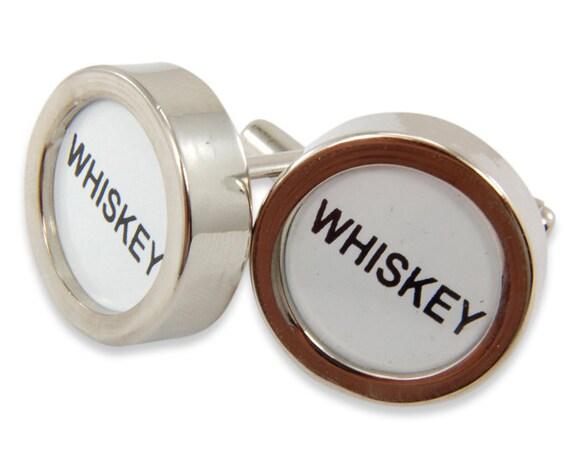 Whiskey Cufflinks - Cash Register Key Cufflinks -WHISKEY Keys - by Gwen DELICIOUS Jewelry Design