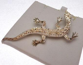 Sterling Gecko Pin