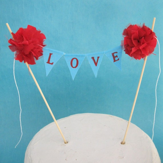 Red And Tiffany Blue Wedding Ideas: Cake Topper Wedding Tiffany Blue And Red