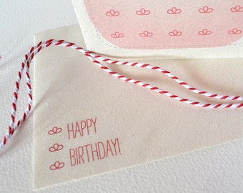 Happy Birthday Card  - Red Flower