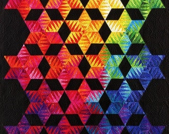 Be Colourful Light Into Darkness Quilt Pattern with Foundation Papers