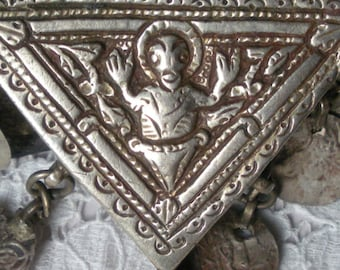 Antique Orthodox Christian Reliquary Necklace