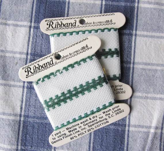 Jan Hagara Cross Stitch Patterns: 2 Yards RIBBAND Ribbon To Cross Stitch 1 By Craftitis2 On Etsy