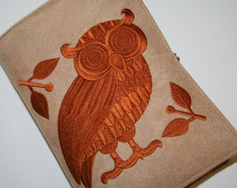 Book Cover Embroidered Athena's Owl