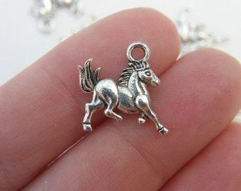 12 Horse charms tibet silver A600