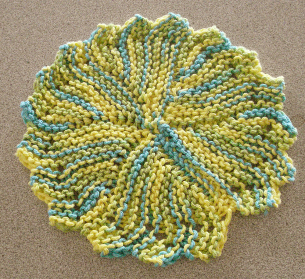 Pdf Dishcloth Pattern For Hand Knit Heirloom Round By