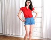 Vintage Shorts / 70's Cut Offs / Cut Off Shorts