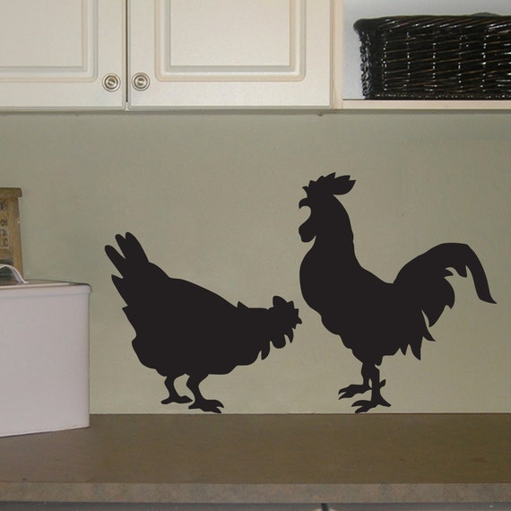 Chicken Wall Decal Rooster Wall Decal By Stephenedwardgraphic