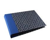 "dark blue Photo Album pinny pattern  8x6"" black pages"