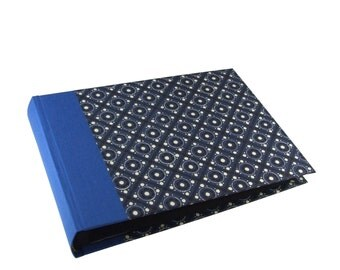 dark blue Photo Album 5x7 black pages, photo book, install mini album, photo album, travel photo album, gift ideas for him