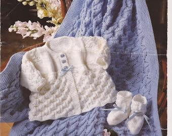 Baby KNITTING PATTERN  - Shawl, Jacket/Cardigan/Sweater and Booties
