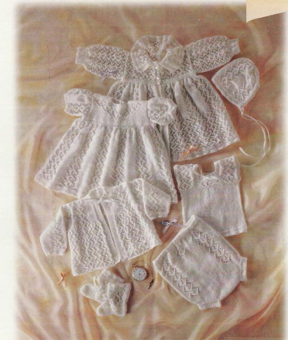 Baby Knitting PATTERN Nostalgic Heirloom Layette Carrying