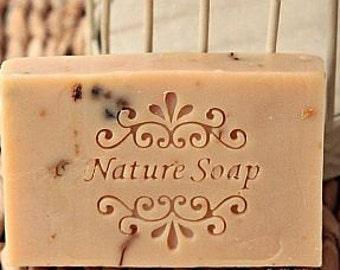 Natural soap stamp