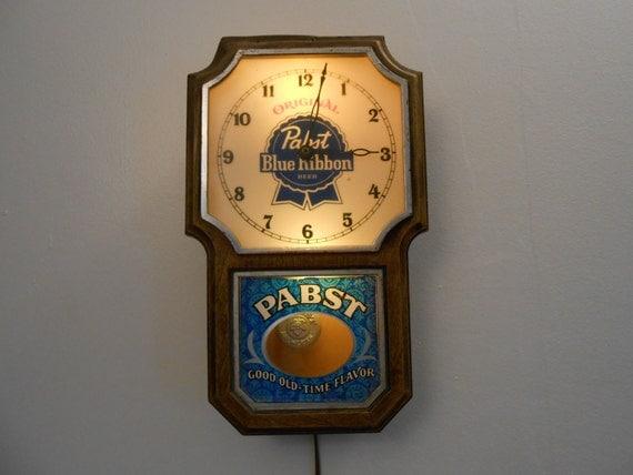 Vintage Revamped Lighted Pabst Blue Ribbon Advertising Beer