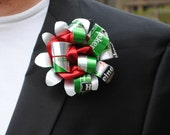 St. Patrick's Day  Green Beer Can Wedding Boutonniere Heineken Flower