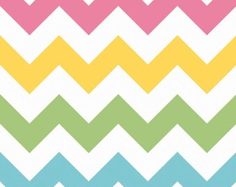Large Chevron in Girl by Riley Blake Designs 1/2 yard total