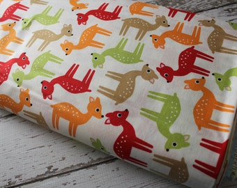 Woodland Pals by Ann Kelle and Robert Kaufman, Deer in Bermuda 1/2 yd total