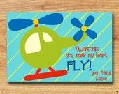 Helicopter Mini Valentine--Printable Valentine--Classroom Valentine