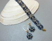 Estelle (beaded bracelet and earrings)/ PDF file