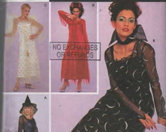 Simplicity Costumes Pattern 9309 Angel Vampire Sheer Dress and Slip Small Ladies