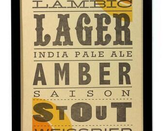 A Craft, Letterpress printed Beer Broadside