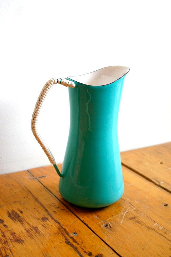 Vintage DANSK Design Denmark IHQ Turquoise Pitcher by CampHobachee