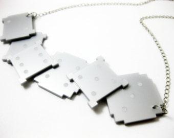 SALE dice necklace - contemporary jewellery - laser cut acrylic jewelry