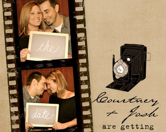 Film Strip Photo Booth Save the Date Cards
