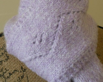 Fuzzy, Soft and Long Lavender Scarf