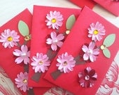 Set of (6) - Cherry Blossoms Red Envelopes